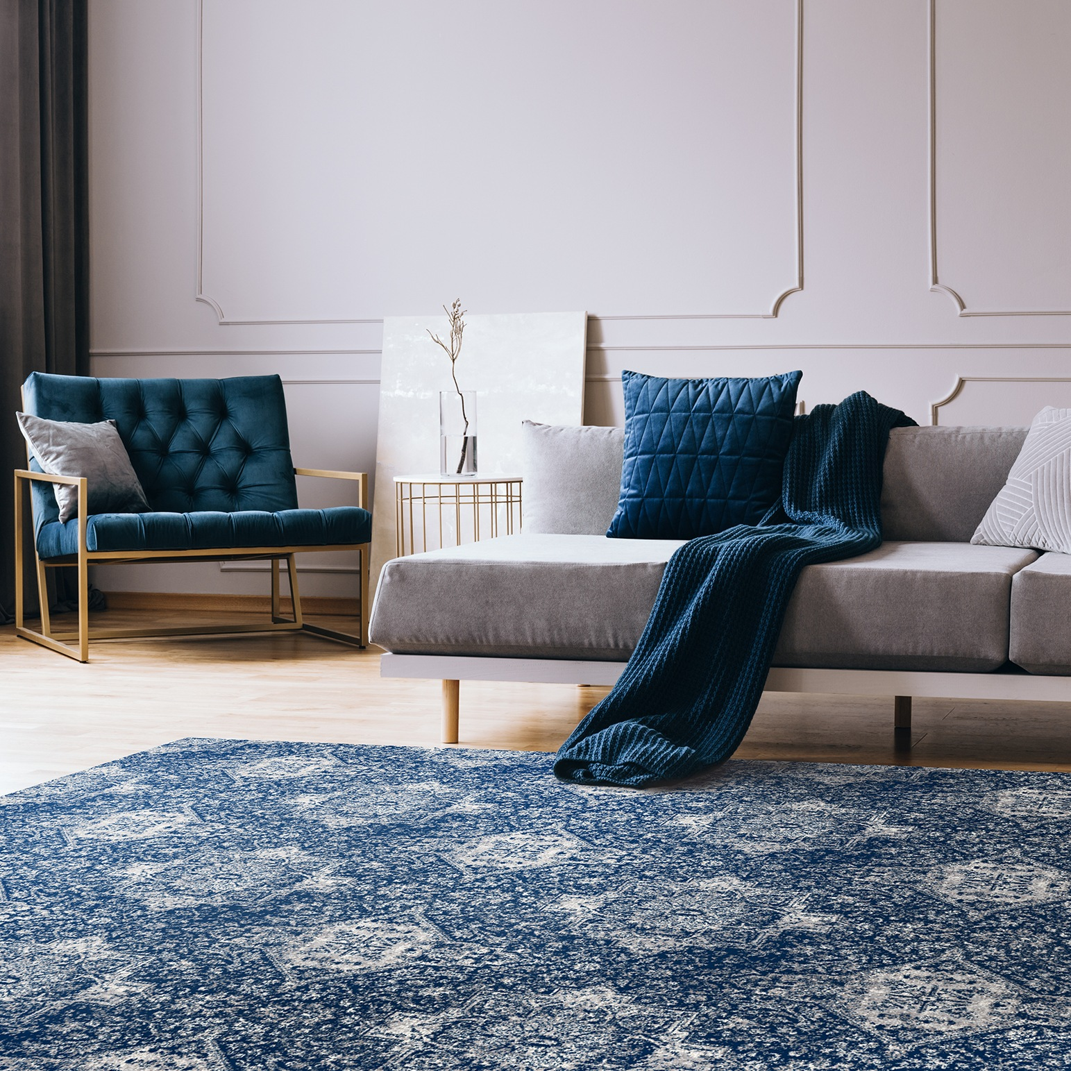 Dywan Splendor Augustus w kolorze Pantone Blue 2020